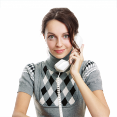 Picture of woman on telephone